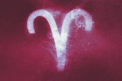 Aries Zodiac Sign abstracte achtergrond stock illustratie