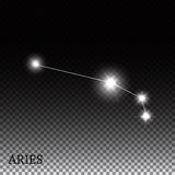 Aries Zodiac Sign of the Beautiful Bright Stars Stock Image