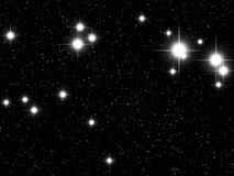 Aries Zodiac. Sign bright stars in cosmos Royalty Free Stock Image