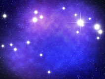 Aries Zodiac. Sign bright stars in cosmos Royalty Free Stock Images