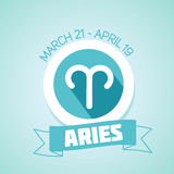 Aries zodiac sign Royalty Free Stock Photography