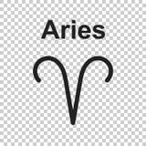 Aries Zodiac Sign Flache Astrologievektorillustration auf Isolat Stockfoto