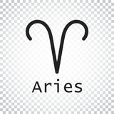 Aries zodiac sign. Flat astrology vector illustration on isolate. D background. Simple pictogram Stock Illustration