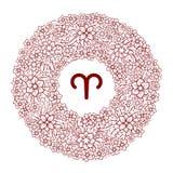 Zodiac sign. Floral decoration. Vector Illustration. Aries. Zodiac sign. Floral decoration. Vector Illustration vector illustration