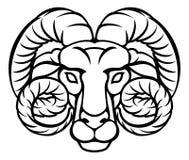 Aries Zodiac Sign Ram royalty free illustration