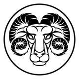 Aries Zodiac Sign vector illustration