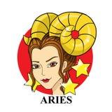 Aries Zodiac Sign Símbolo astrológico Foto de Stock Royalty Free
