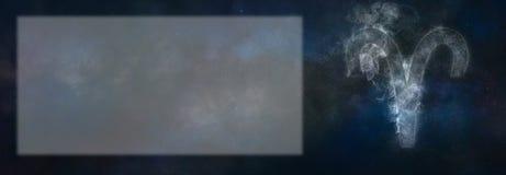 Aries Zodiac Sign Signe d'horoscope de Bélier Pièce des textes de calibre Images stock