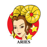 Aries Zodiac Sign Symbole astrologique Photo libre de droits
