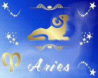 Aries zodiac star sign Royalty Free Stock Images