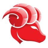 Aries zodiaka gwiazdy znak Zdjęcia Stock