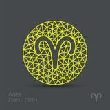 Aries zodiaka znak Obraz Royalty Free
