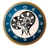ariesen undertecknar zodiac vektor illustrationer