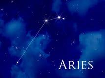 arieskonstellation arkivfoton