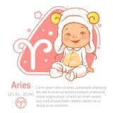 Ariete dello zodiaco del bambino Fotografie Stock Libere da Diritti