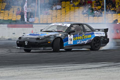 Ariff Drifting during Formula Drift Singapore royalty free stock photo