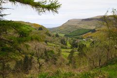 Ariff, the glen of the ploughman. Glen Ariff, the glen of the ploughman is one of the glens of antrim which are designated as areas of outstanding naturl beauty stock image