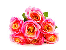 Arificial beautiful pink roses flower bouquet Stock Image