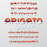 Arigato color typeface Stock Photo