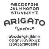 Arigato typeface set Royalty Free Stock Image