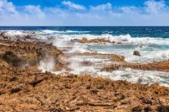 Arikok National Park on Aruba. Caribbean Stock Image
