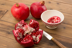 Arils of a pomegranate Royalty Free Stock Image