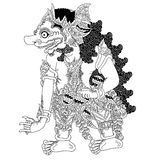 Arimbaji traditional puppet show. A character of traditional puppet show, wayang kulit from java indonesia stock illustration