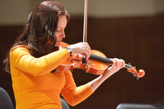 Arina Shevliakova op de repetitie Stock Fotografie