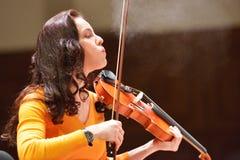 Arina Shevliakova op de repetitie Royalty-vrije Stock Foto