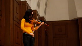 Arina Shevliakova on the rehearsal stock footage
