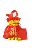år för prydnadar för kinesisk gåva för påse nytt Royaltyfri Fotografi
