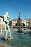 The Arion Fountain at Upper Square in Olomouc Stock Photo