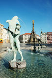 The Arion Fountain at Upper Square in Olomouc, Czech Republic Stock Photo