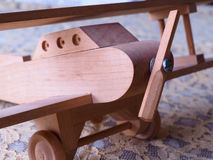 Ariplane modelo de madeira feito à mão Imagens de Stock Royalty Free