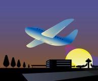 ariport wodowanie samolot Zdjęcie Royalty Free
