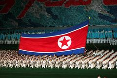 Arirang Massenspiele 2011 in DPRK Stockbild