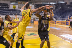 ARIS VS PAOK GREEK BASKET LEAGUE Stock Image