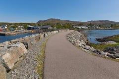 Arisaig Escócia Reino Unido em montanhas escocesas uma vila da costa Foto de Stock
