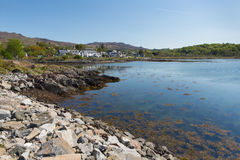 Arisaig Scotland uk south of Mallaig in Scottish Highlands a coast village Royalty Free Stock Photography