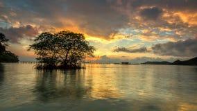 Arise. Beautiful sunrise moment at sumatera, indonesia royalty free stock photo