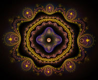 Arising, fractal art Royalty Free Stock Photos