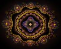 Arising, fractal art. Arising, colorful abstract fractal art Royalty Free Stock Photos