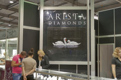 Arista Diamonds Jewelry Factory booth Royalty Free Stock Photos