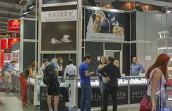 Arista Diamonds Jewelry House booth Stock Images