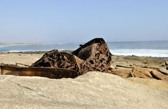 Aristea Ship Wreck on Westcoast South Africa. Hondeklip Bay Royalty Free Stock Photography