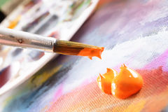 Aristic acrylics paint Royalty Free Stock Image