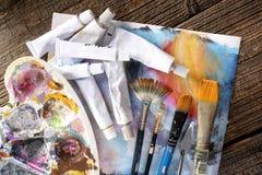 Aristic akrylmålarfärger Royaltyfria Bilder