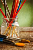 Aristic paint brushes Royalty Free Stock Photography