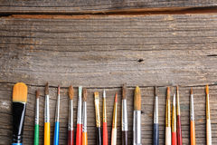 Aristic paint brushes Royalty Free Stock Image