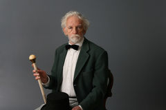 Aristocratic aged man  Stock Images